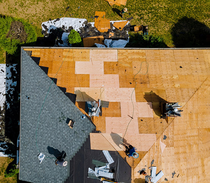 raintech roof replacement.